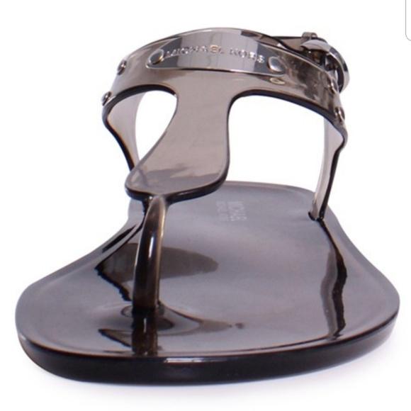 639bdc34fbf7 Michael Kors Plate Jelly Smoke Sandal 8 Women s